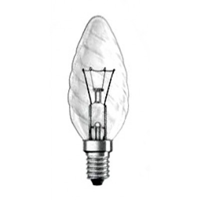 kaarslamp helder gedraaid glas e14 25 watt 230 volt. Black Bedroom Furniture Sets. Home Design Ideas