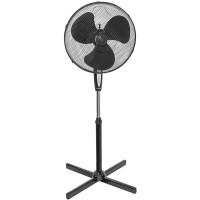 Statief ventilator zwart 45 cm + afstandbediening en digitale timer