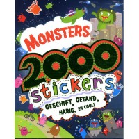 Monsters 2000 stickers geschift, getand, harig en cool!
