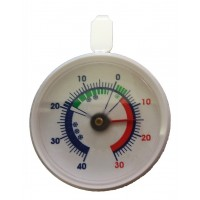 Diepvriesthermometer rond wit